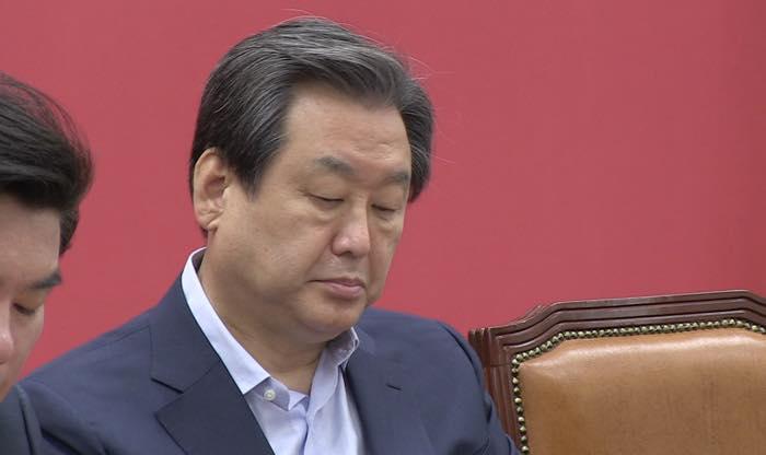 9월14일 새누리당 최고위원회의에 참석한 김무성 대표