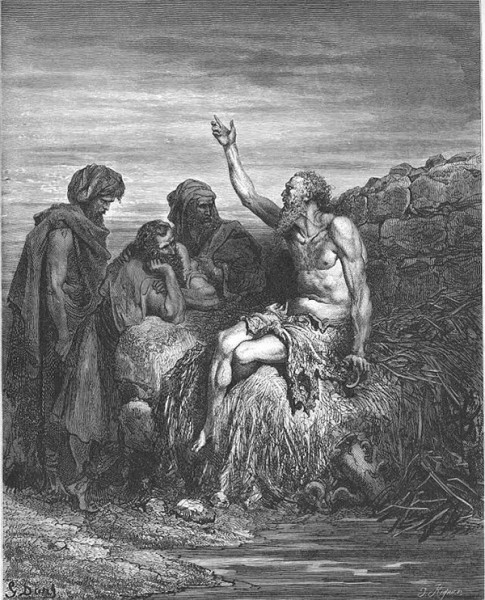 ▲ 욥과 그의 세 친구들 ⓒ Gustave Doré